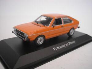 VW-Volkswagen-Passat-1975-NARANJA-1-43-maxichamps-940054201-NUEVO