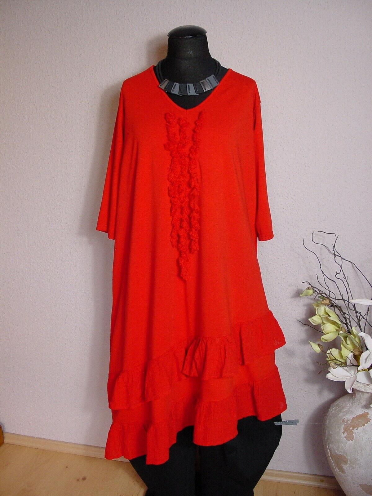 Moonshine Fashion° Fashion° Fashion° Asymetrisches Lagenlook Shirtkleid Tunika  Rot  2   3 | Ästhetisches Aussehen  | München  | Zart  c27b6c
