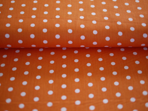 Pointillés Orange-Blanc Hilde points Hilco Coton tissu pois