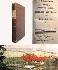 Nachrichten und Notizen von der Stadt Osterode am Harze - 1 kolor. Tafel - 1833