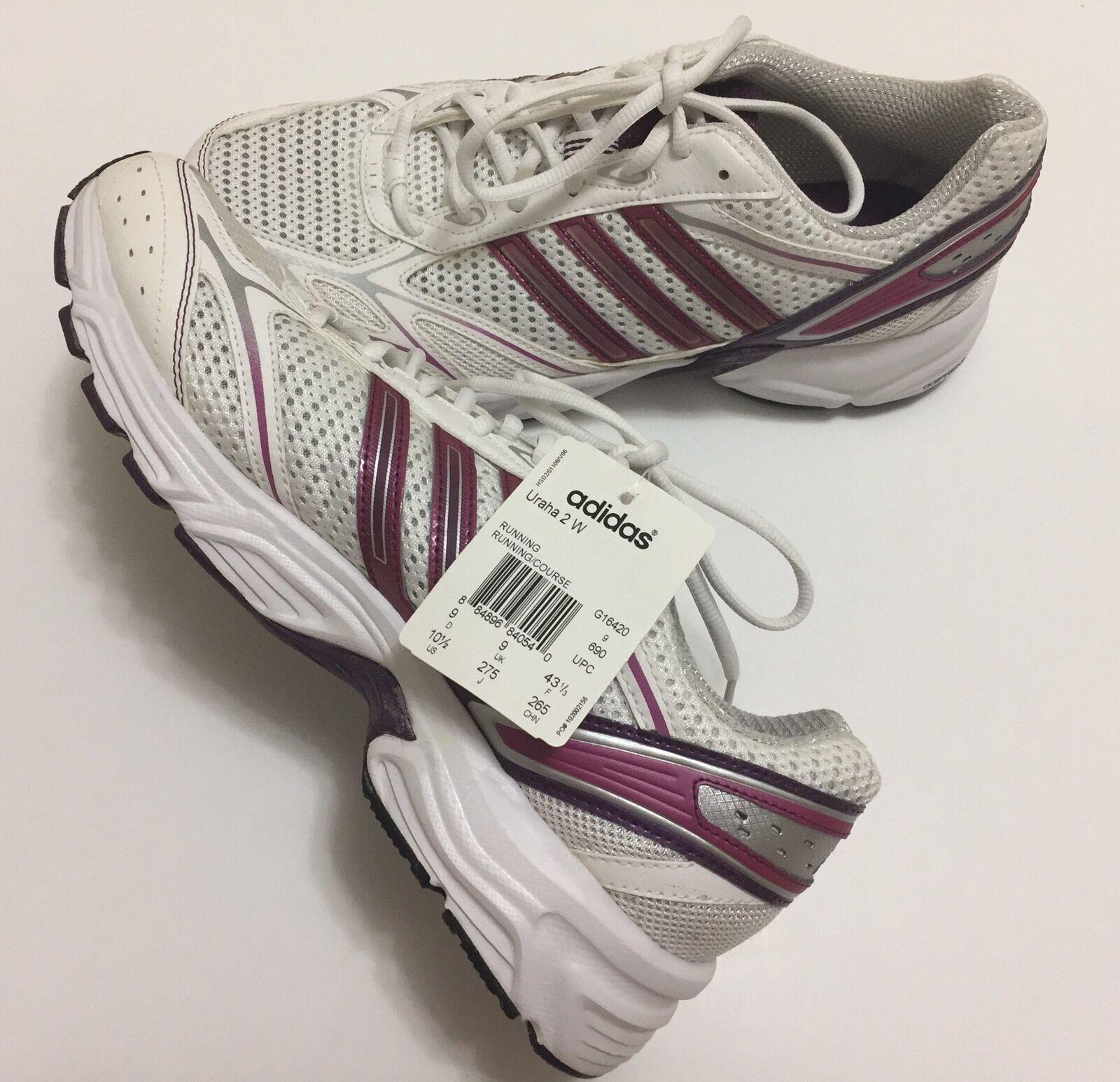 Adidas Women's Uraha 2 W Size 10.5 Running shoes White Purple Pink G16420 NEW