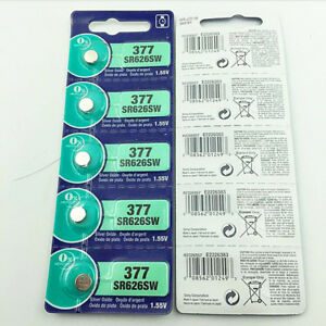 1-55V-Silver-Oxide-Button-type-Watch-Batteries-Adapt-Sony-377-SR626SW-V377-SR66