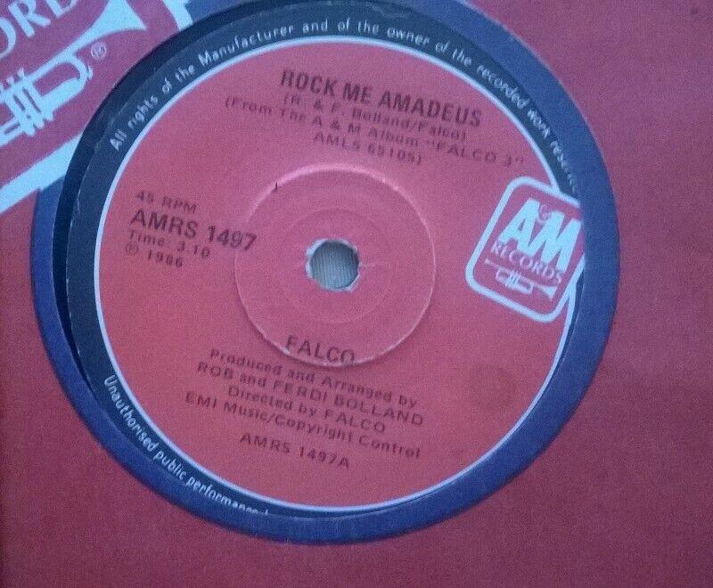 "3 x Classic Eighties 7"" Singles, vinyl records. Pop, electronic genre. LP's available."