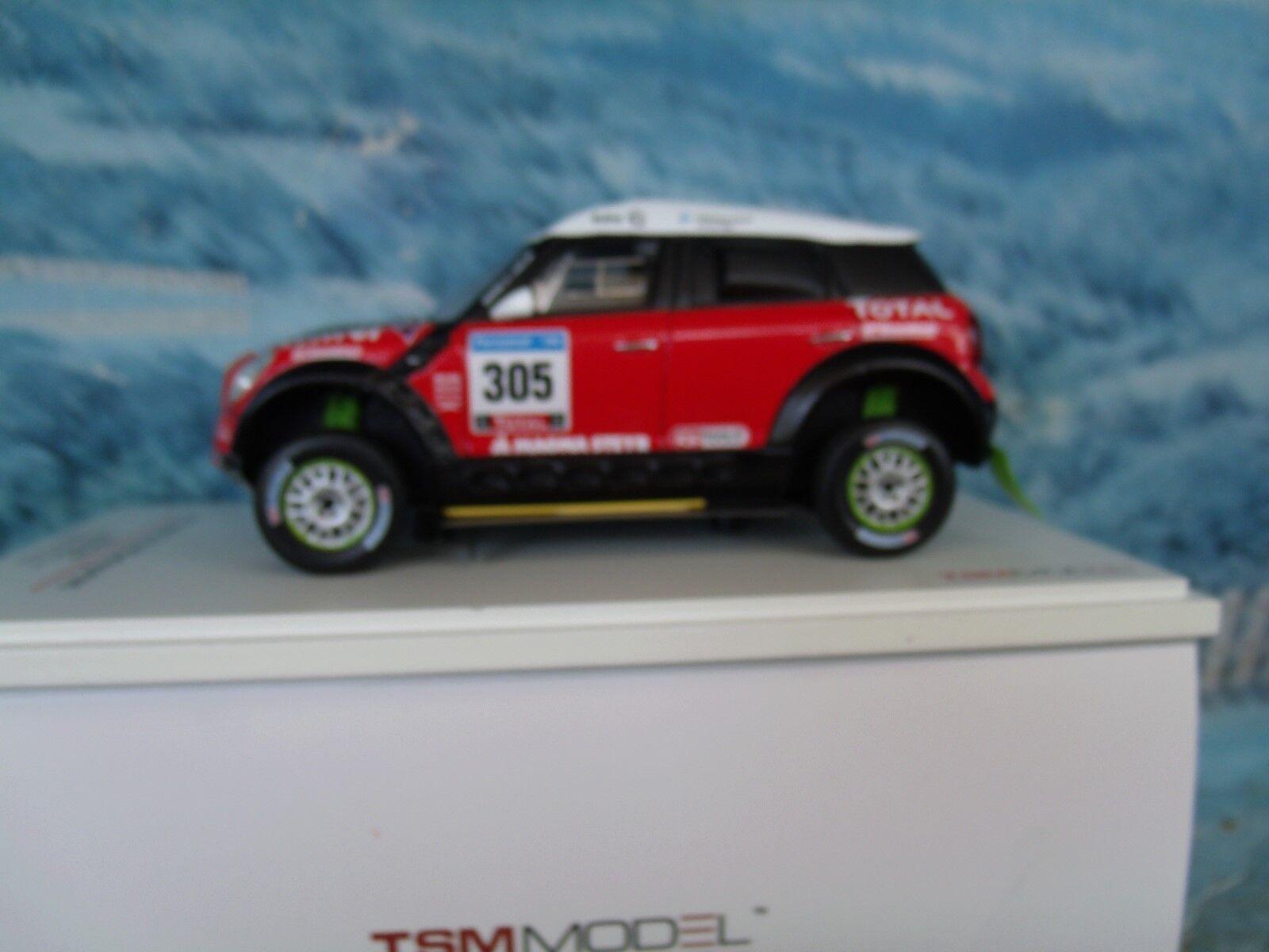1 43 TrueScale Miniatures (TSM)  Mini ALL4 RACING N.305 DAKAR 2011 TSM114351
