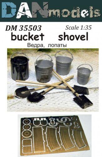 Dan Models 35503 Buckets Shovels 4 Buckets 4 Shovels 1//35 scale kit New in Box