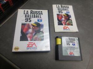 La Russa Baseball 95 (Sega Genesis, 1994) Cartridge manual and case