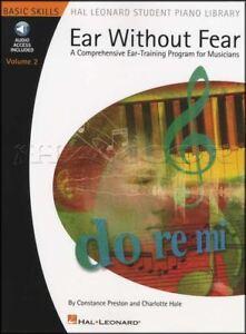 Expressif Atteintes De L'oreille Sans Crainte Volume 2 Ear Training Program Music Book With Audio Hal Leonard-afficher Le Titre D'origine