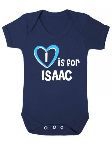 I Is For Isaac Playsuit Isaac Baby Bodysuit Baby Vest