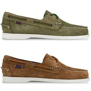 competitive price aeec1 b43ca Details about Sebago Shoes - Sebago Docksides Portland Boat Shoe - Brown,  Green Suede - BNIB