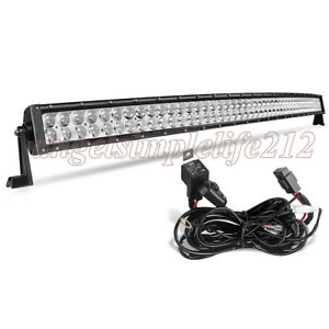 Superb Details About 50Inch 480W Cree Curved Led Work Light Bar Combo Flood Spot For Off Road Truck Evergreenethics Interior Chair Design Evergreenethicsorg