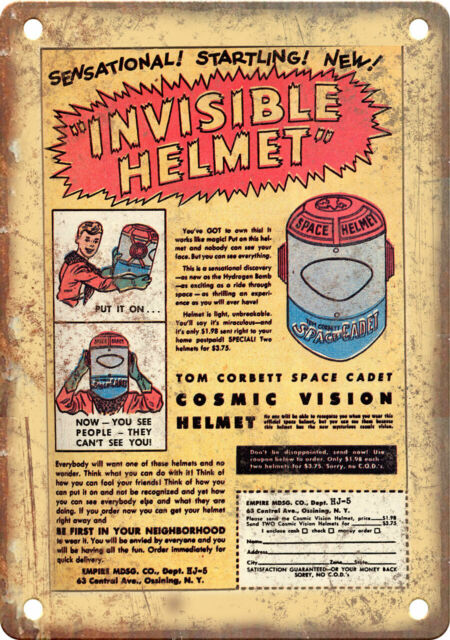 """Vintage Comic Book Toy Ad 10/"""" x 7/"""" Reproduction Metal Sign J830"""