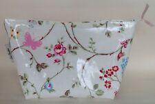 Bird Trail Oilcloth large cosmetic/toiletries makeup bag