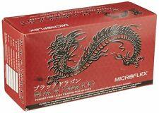 Large Microflex MFXBD1003PFL Black Dragon Powder Free Black Latex Exam Gloves