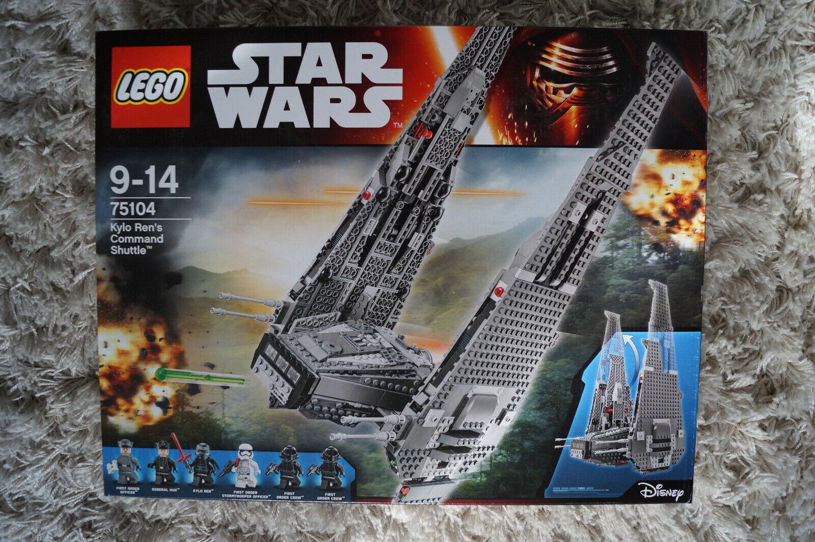 LEGO Stern WARS Set 75104 Kylo Ren's Command Shuttle NEU & OVP