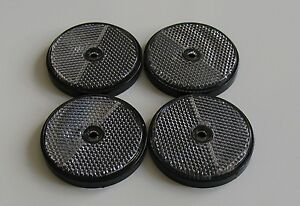 8 x ROUND RED REFLECTOR SIDE MARKER TRAILER PARTS,HORSE BOX,CARAVANS,BOATS