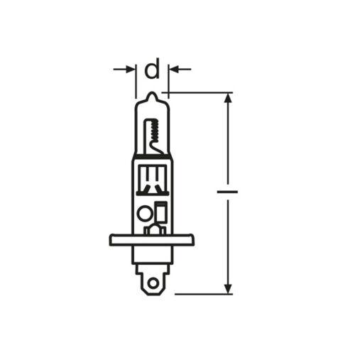 2x H1 448 100w Clear Halogen Headlight Headlamp Car Bulbs Pair 12v