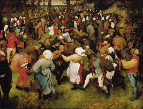 Pieter Bruegel the Elder The Wedding Dance Giclee Canvas Print Paintings Poster