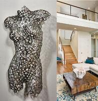 Abstract wall Art Modern Metal Sculpture Nude Torso Original contemporary
