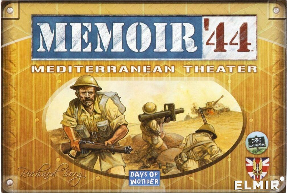 Memoir 44 Mediterranean Theater Board Game Expansion   NEW + SEALED