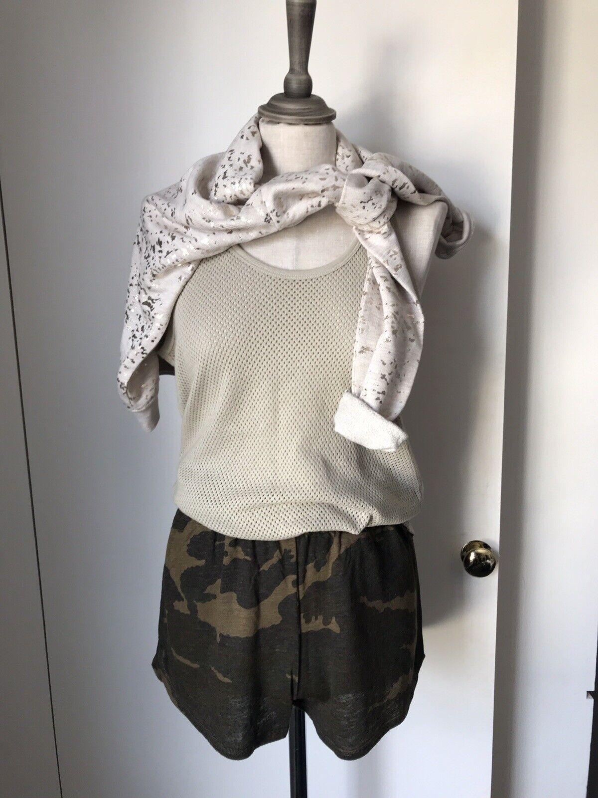 Majestic Filatures Camo Linen Jersey Shorts 2 BNWT