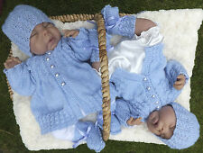 KNITTING PATTERN (INSTRUCTIONS) TO MAKE **HUGS and KISSES** BABY SETS IN 2 SIZES