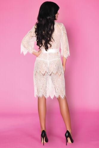 LIVCO CORSETTI narele Luxe Super Doux décoratif dentelle robe de chambre//Peignoir