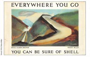 Post Card PUBLICITE ADS SHELL OIL n5 ILLUSTRATION ROBERT MILLER
