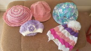 5-X-SIZE-3-SIZE-6-GIRLS-HATS-SUMMER-HATS-AND-WINTER-HATS