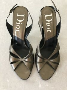 ff48001da1 Image is loading Authentic-Vintage-Christian-Dior-Sandals-High-Heel-Brown-
