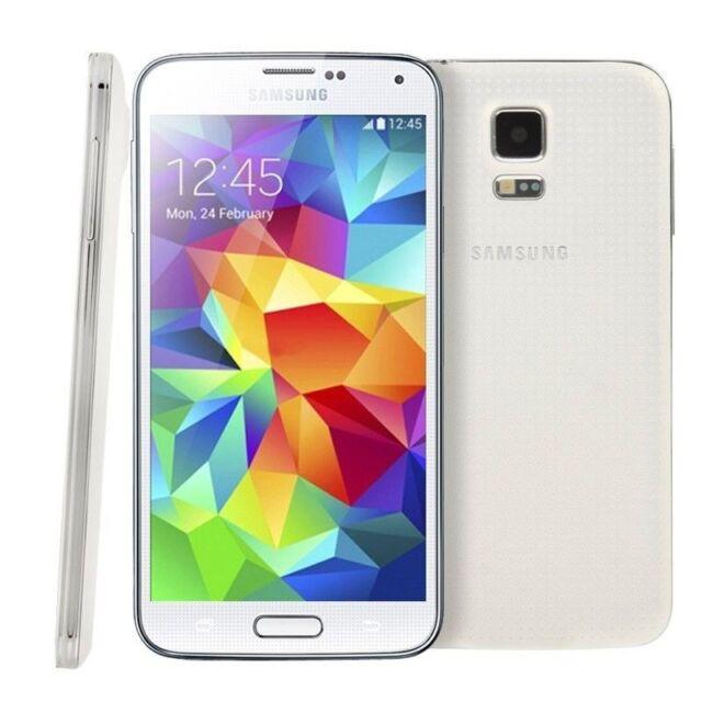 """Samsung Galaxy S5 G900F 5.1"""" Débloqué Téléphone 16GB 2GB RAM 16MP 4G LTE Blanc"""