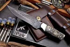 CFK IPAK Handmade 1095 Custom Sheep Horn Hunting Skinner Camp Sport Knife