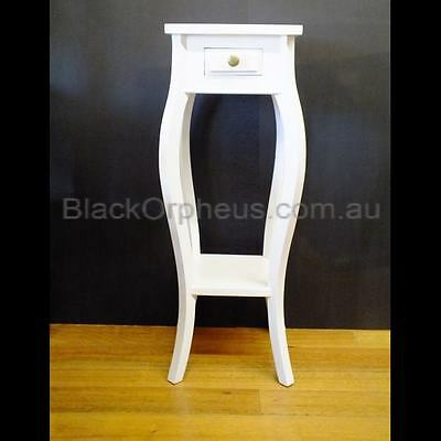 save off d1ff2 fac16 Small White Timber Table, Lamp Table, Corner Table, Plant Stand, White  Table. | eBay