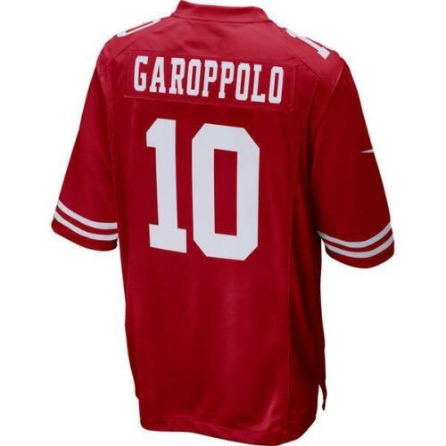 Jimmy Garoppolo Men Game Jersey White Red  49ers Black