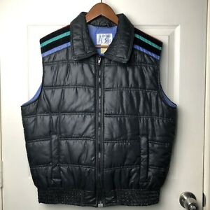 Alpine Ski Vintage Retro 90's Puffer Jacket Vest Corduroy ...