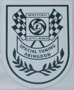 CLASSIC-MINI-BRITISH-LEYLAND-SPECIAL-TUNING-ABINGDON-SHIELD-STICKER-LMG1050