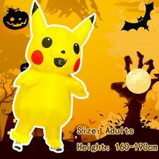 2020 Pikachu Adult Mascot Costume Dress Halloween Birthday Party Cosplay Outfits