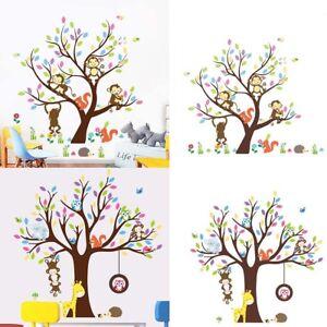 Cn Bonito Dibujos Animados Mono Animal árbol Bricolaje Adhesivo