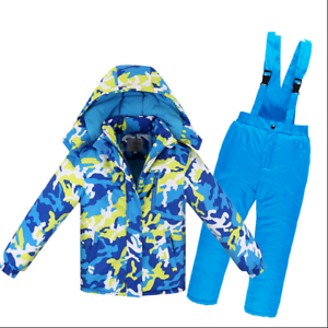 1e4217ee8 New Girls boys Snowboard Snow Jacket pants Set Clothes Outdoor Kids ...