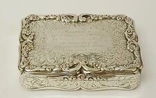 stunning victorian solid silver table snuff box birmingham 1853