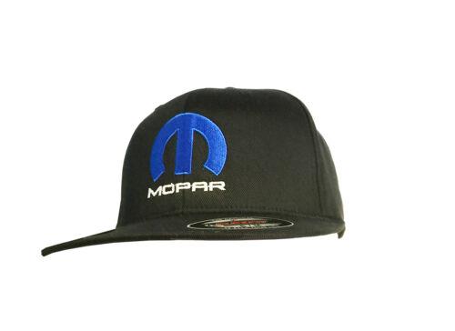 Mopar Hat Cap Fited Flexfit Black Color Embroidered Front Free Bumper Sticker