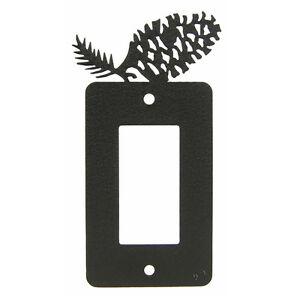 Pinecone Black Metal Rocker Light Switch Plate Cover Ebay