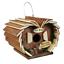 Deluxe en bois Hanging Bird Box /& Feeder Petit Jardin Oiseaux Nidification Maison Hôtel 3