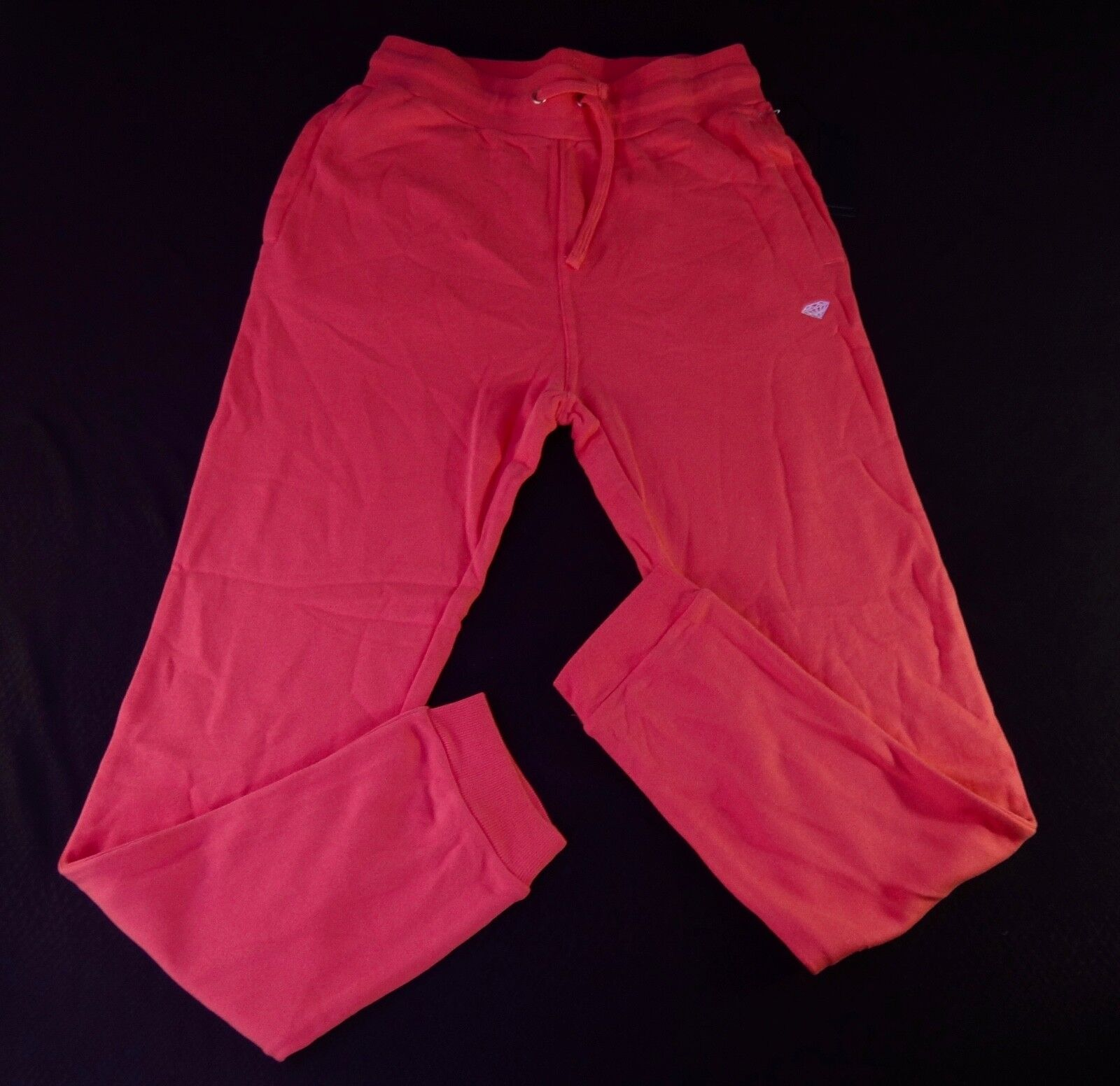 NEW RSHRT-71 DIAMOND SUPPLY CO. TEAM MENS PAVILION TERRY RED JOGGERS SWEATPANTS