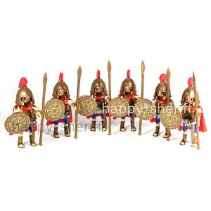 Playmobil-6x-Grec-Soldats-Armee-Ancien-Grece-Hoplite-Spartiates-Sparta-Neuf