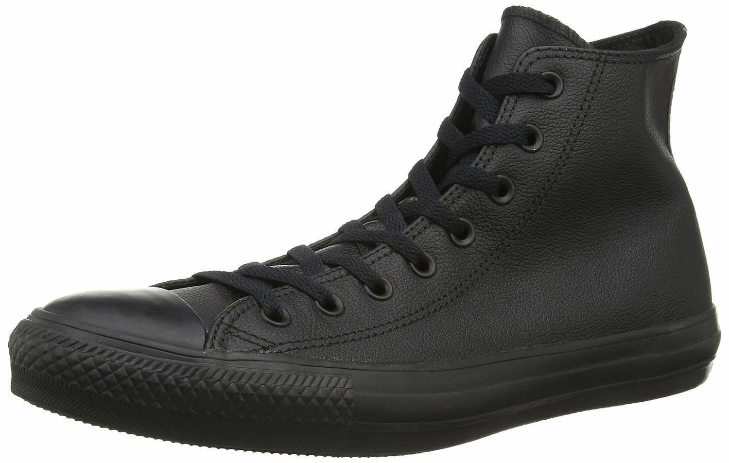 Converse Chuck Taylor All Star Noir Hi Unisex Leather Trainers Bottes