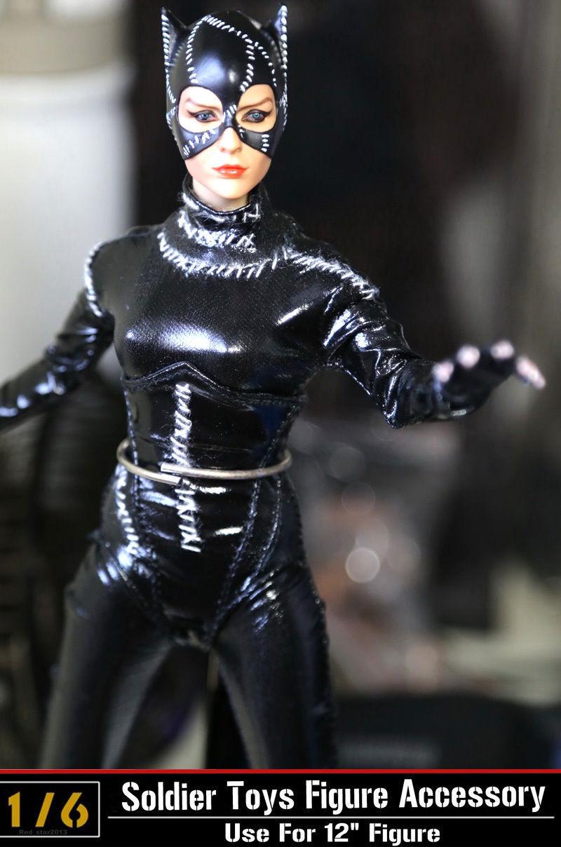 Échelle 1 6 KUMIK Catwoman Selina Kyle dans batman returns de collection corps poupée