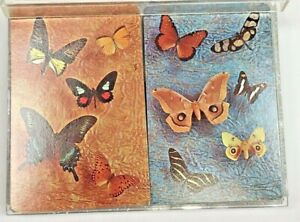Vtg Kent Playing Cards Pack Butterflies plastic coated 2 decks USA Butterfly