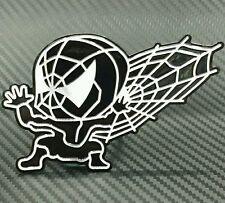 SPIDERMAN MARVEL DC fumetti simbolo IN PLASTICA RIGIDA METALLICA AUTO ADESIVO NERO