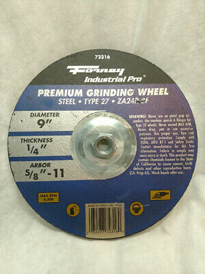 Dia thick  x 7//8 in. Forney  Metal Grinding Wheel  4-1//2 in 71877 x 1//4 in