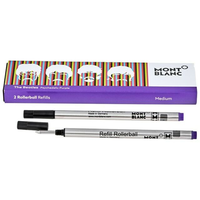 Montblanc 2 Rollerball Refills (M) Great Characters Beatles, Psychedelic Purple